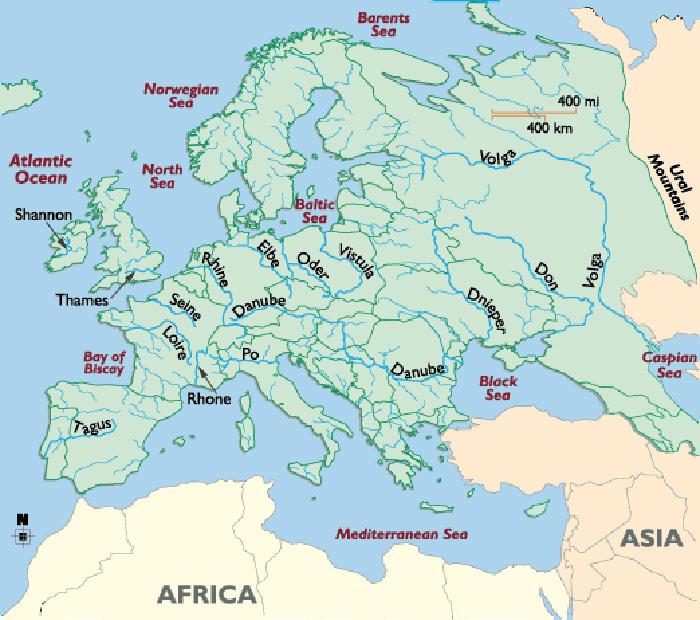 Geografie Evropy