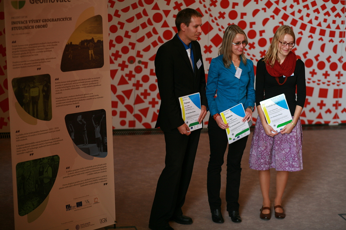 Ocenění účastníci soutěže studentských prací